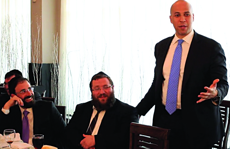 Newark Mayor Cory Booker was in Lakewood several weeks ago for a private fundraiser hosted by Sam Brown, a local attorney. Details of the event were released on Thursday.(TheLakewoodScoop.com)