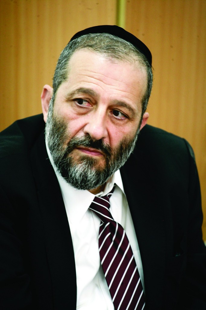 Shas party chairman Aryeh Deri.(FLASH90)