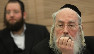 United Torah Judaism MK Rabbi Yisrael Eichler told Finance Committee members they were the last defense against disastrous child allowance cuts. (Miriam Alster/FLASH90)