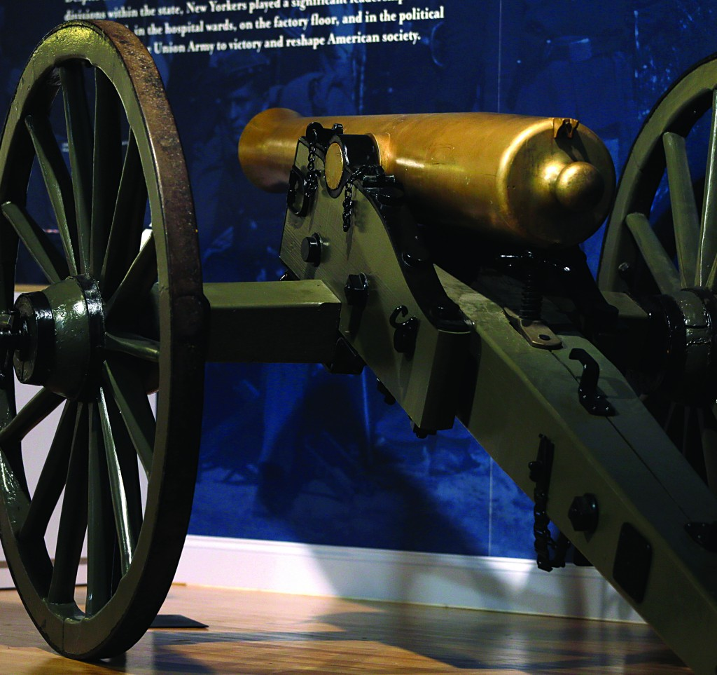 A 12-pound Napoleon field gun sits on display at the Civil War exhibit in the New York State Military Museum in Saratoga Springs. (AP Photo/Mike Groll)