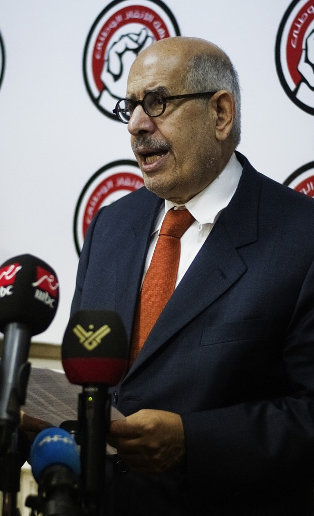 Mohamed ElBaradei, newly appointed deputy to the president of Egypt, responsible for foreign affairs, not a favorite of Israel. (GIANLUIGI GUERCIA/AFP/Getty Images)