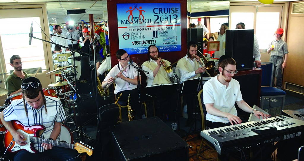 On the Misameach cruise Sunday, where entertainers and costumed volunteers cheer up children with medical issues.