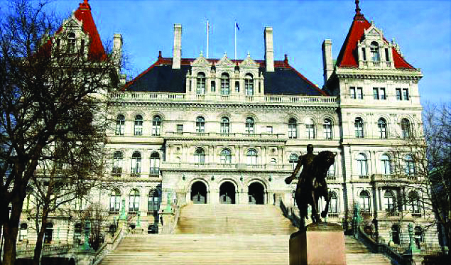 The New York state Capitol in Albany. (Getty Images)