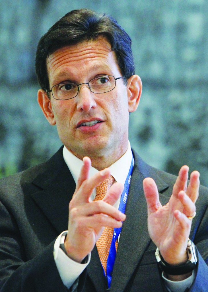 U.S. House Majority leader Eric Cantor in Yerushalayim this week. (Miriam Alster /Flash90)