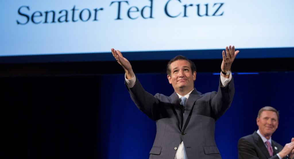 Sen. Ted Cruz (R-Texas) speaks during the family leadership summit in Ames, Iowa, on Aug. 10. (AP Photo/Justin Hayworth)