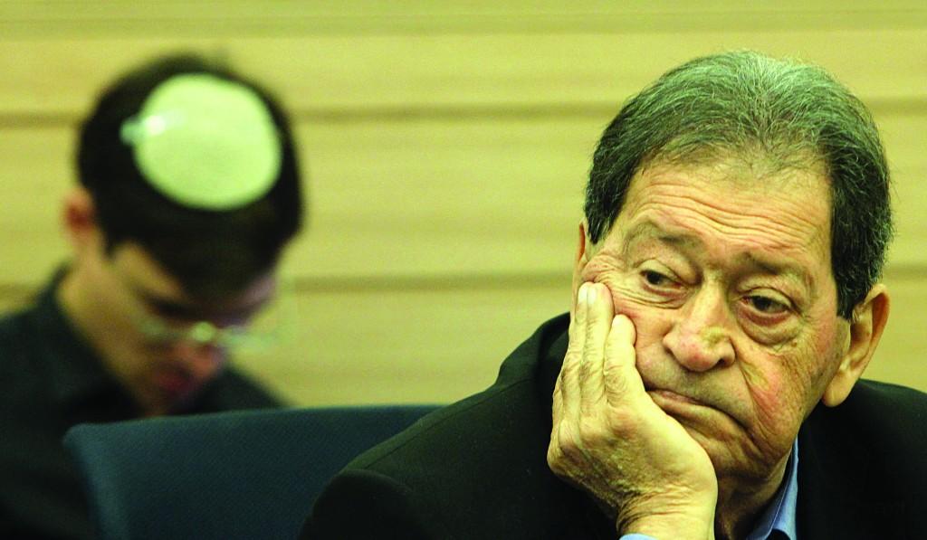 Former Defense Minister MK Binyamin Ben-Eliezer (Labor). (Miriam Alster/FLASH90)