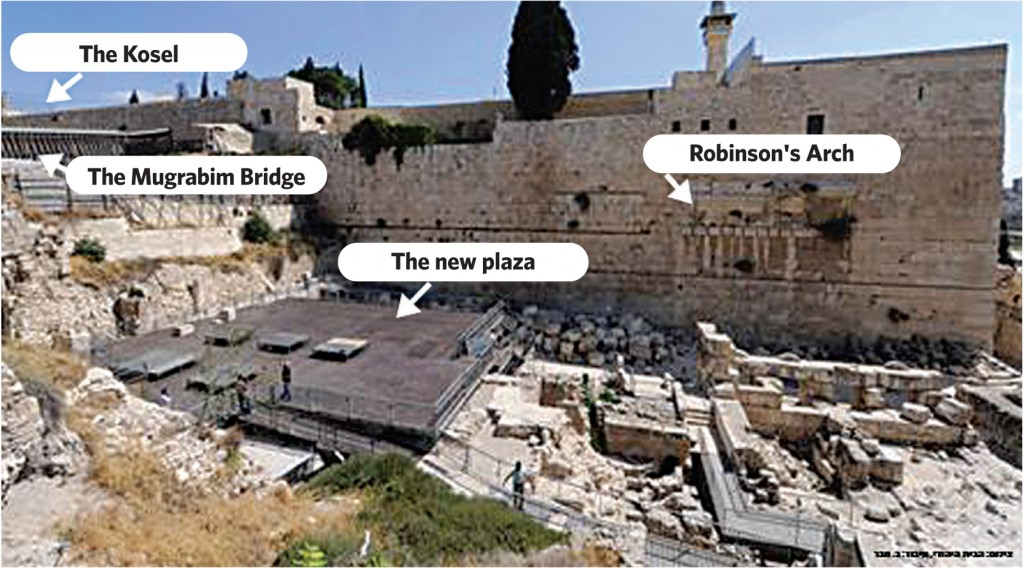 Construction of the new plaza taking place the Kosel for use by Women of the Wall.