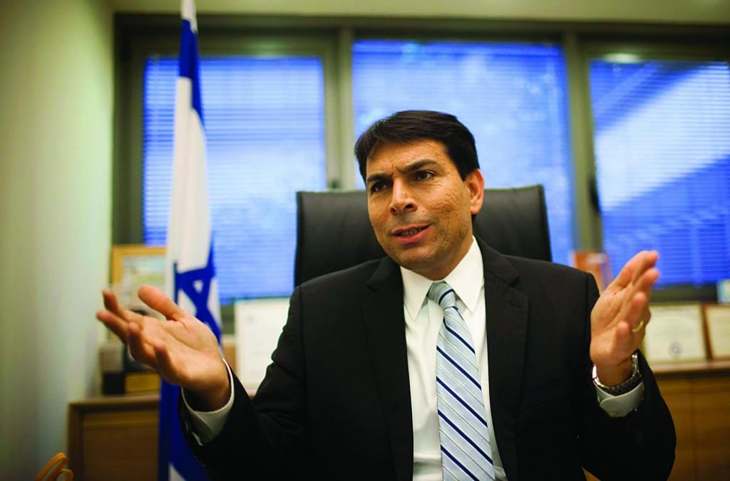 Deputy Defense Minister Danny Danon (Likud).(Yonatan Sindel/Flash90)