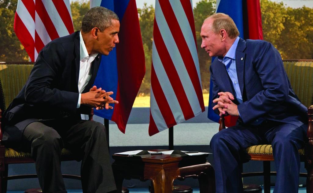 President Barack Obama meets with Russian President Vladimir Putin in Enniskillen, Northern Ireland, June 17, 2013. (AP Photo/Evan Vucci, File)