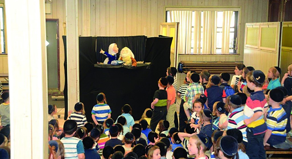 A puppet show at Yaadir day camp in Boro Park, Tuesday. (JDN)