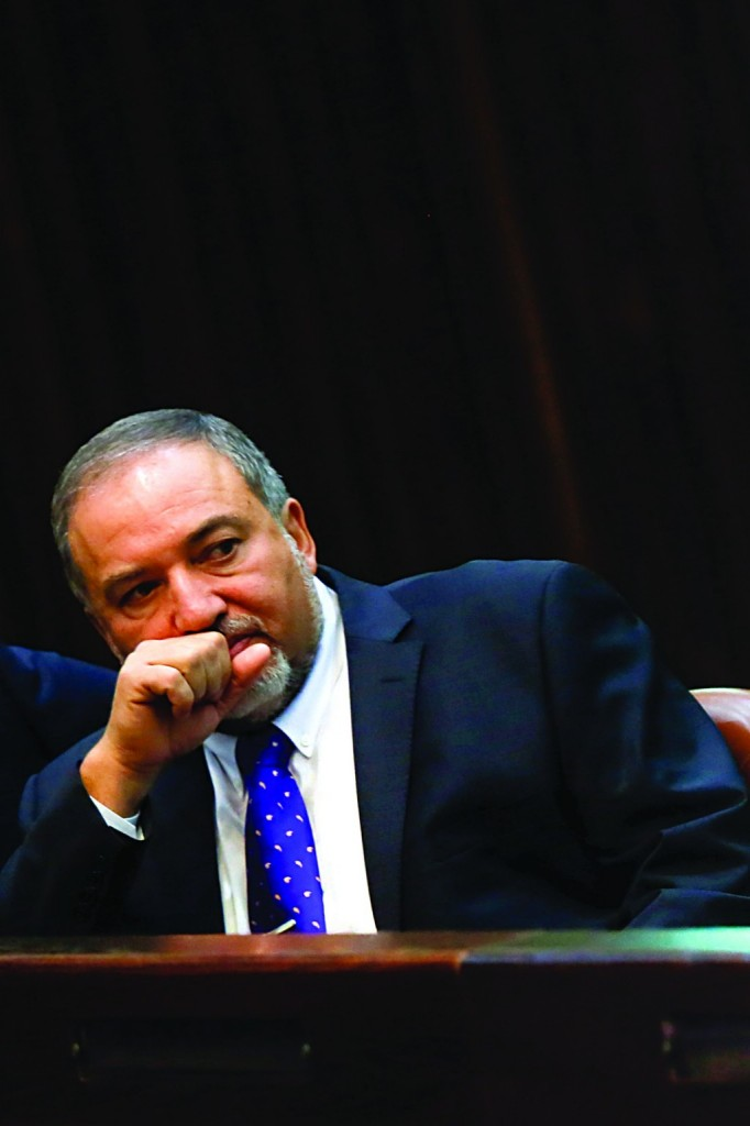 Yisrael Beiteinu leader and Knesset Security and Foreign Affairs Committee chairman Avigdor Lieberman denied Israeli lobbying for the Egyptian interim government. (Miriam Alster/FLASH90)