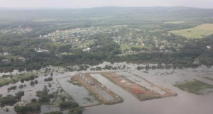 Aerial view of a flooded Amur River in the Khabarovsk region. The Russian Emergency Situations Ministry says around 20,000 people have been forced to leave their homes since July in the wake of floods in Russia's Far East. (AP Photo/ Russian Emergency Ministry, Khabarovsk region branch)