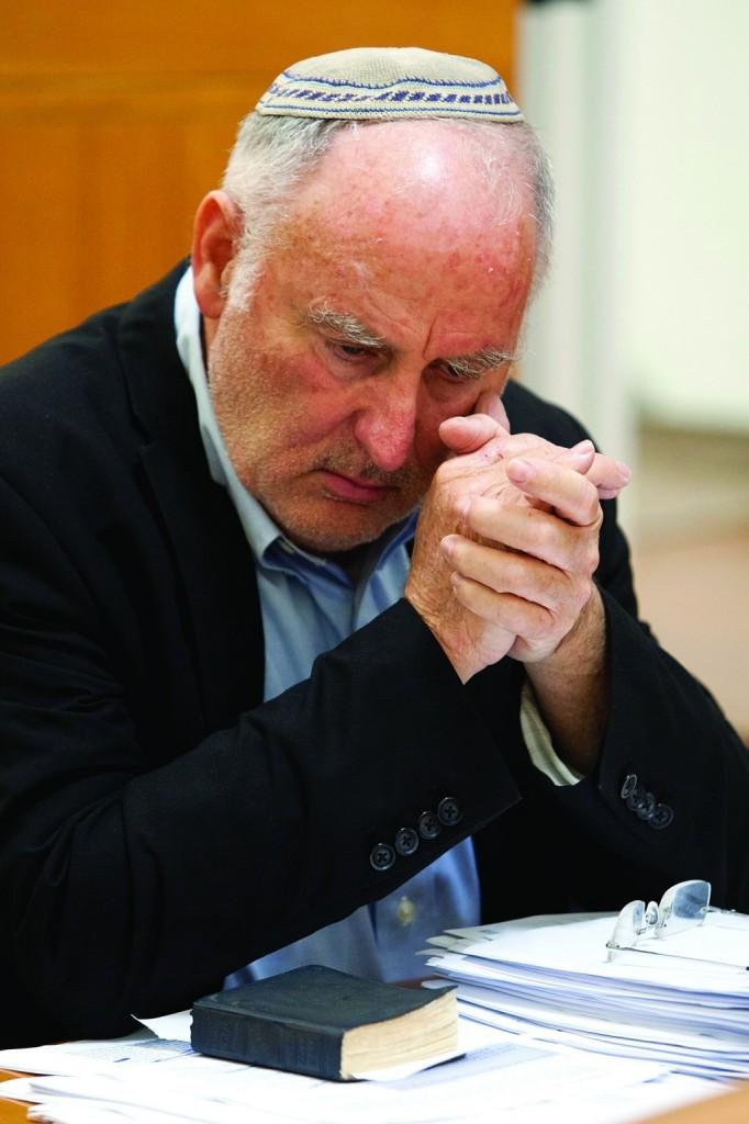Meir Indor, chairman of the Almagor Terror Victims Association. (David Vaaknin/POOL/FLASH9)