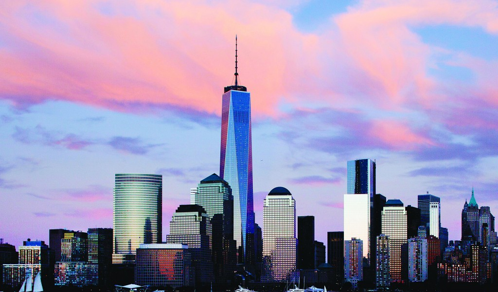 In this Sept. 4 photo, One World Trade Center rises above the lower Manhattan skyline in New York. (AP Photo/Mark Lennihan)