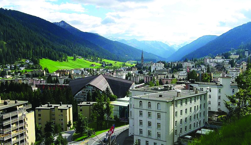 A view of Davos, Switzerland, which hosts the World Economic Forum. (Wikipedia)