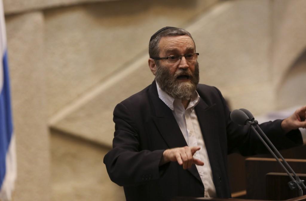 United Torah Judaism MK Rabbi Moshe Gafni. (Yonatan Sindel/FLASH90 )