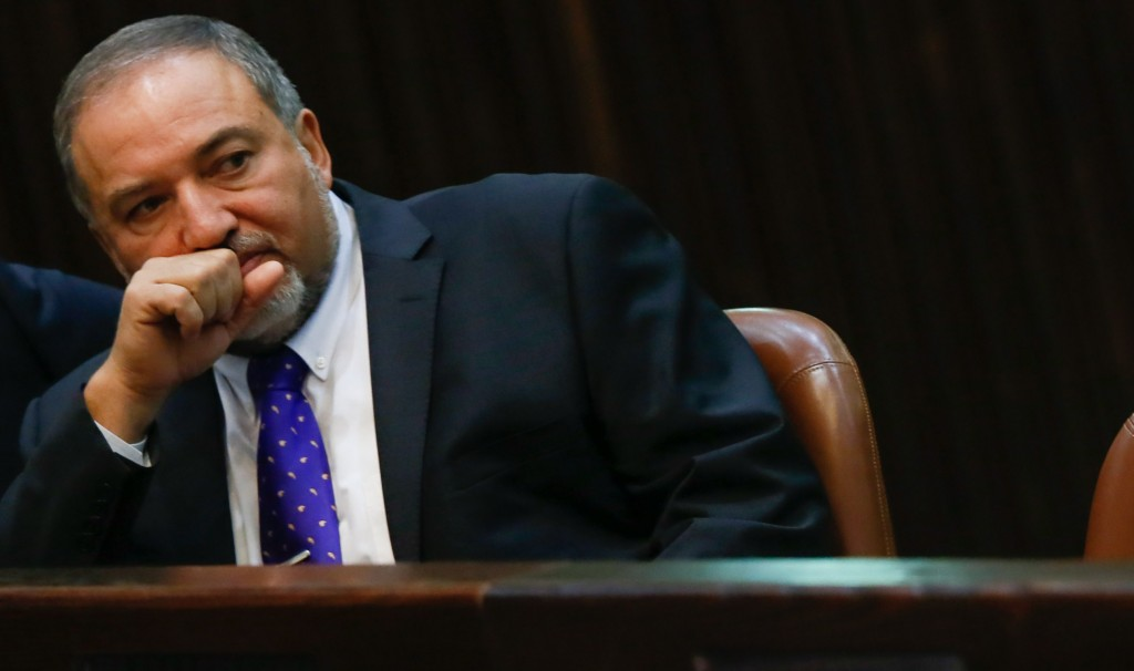 Chairman of the Knesset Foreign Affairs and Defense Committee, Avigdor Lieberman. (Miriam Alster/FLASH90)