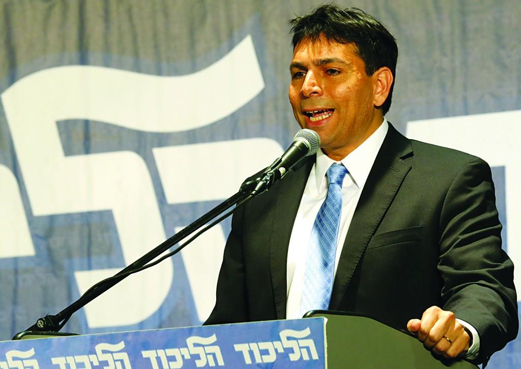 Deputy Defense Minister Danny Danon (Likud). (Flash90)