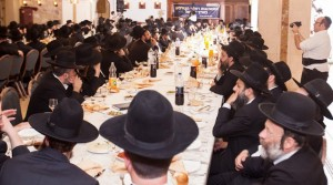 A partial view of the crowd at the gathering for Roshei Kollel in Modiin Illit.