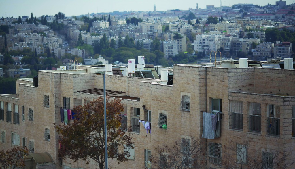 A view of Ramat Shlomo in east Yerushalayim, where new housing is planned. (Yonatan Sindel/Flash90)
