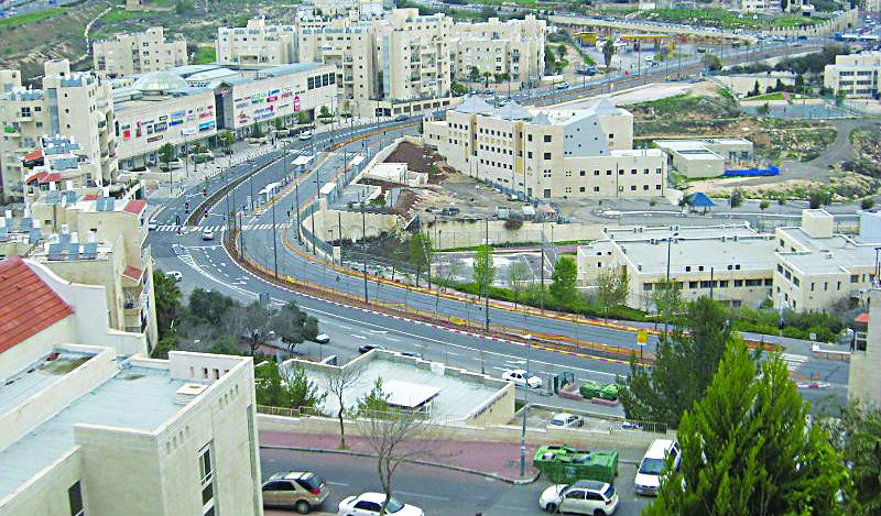 A view of the Pisgat Zeev neighborhood of east Yerushalayim.