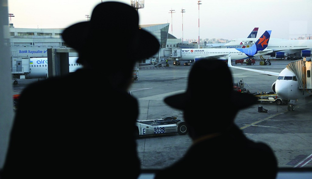 A view from one of the terminals at Ben Gurion International Airport. (Yaakov Naumi/Flash90 )