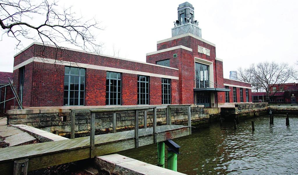The ferry building on Ellis Island. (AP Photo/Mike Derer)