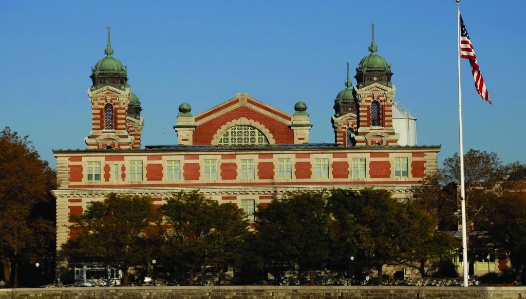 The Ellis Island Immigration Museum is seen on Ellis Island in New York, Monday. (AP Photo/Seth Wenig)