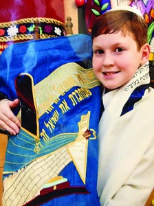 Mrs. Steinberg's great-grandson at his bar mitzvah.
