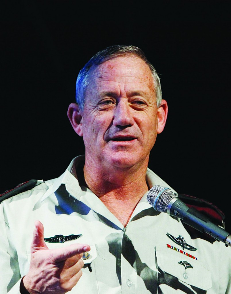 IDF Chief of Staff Benny Gantz. (Miriam Alster/FLASH90)