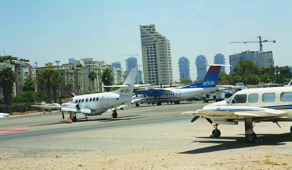 A view of the Sde Dov airport in Tel Aviv, which will soon be destroyed to make room for new residential housing. (Yossi Zamir/Flash90)