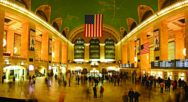 Manhattan's Grand Central Terminal (left) and Newark's Essex County Branch Brook Park, both made the 2013 top 10 list of Great Public Spaces.