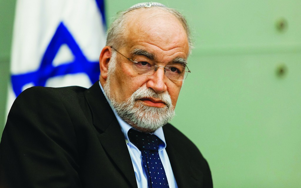 MK David Rotem (Likud-Beiteinu), Chairman of the Constitution, Law and Justice Committee of the Knesset. (Flash90)