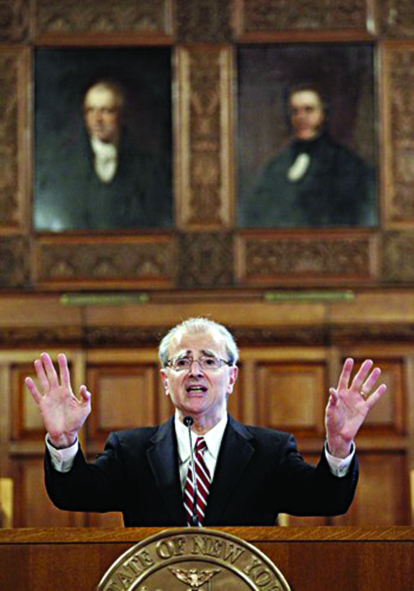Chief Judge Jonathan Lippman speaks at the Court of Appeals in Albany in 2011. (AP Photo/Mike Groll)