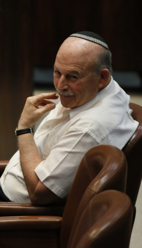 Chairman of the Knesset Finance Committee Nissan Slomiansky (Jewish Home). (Miriam Alster/FLASH90)