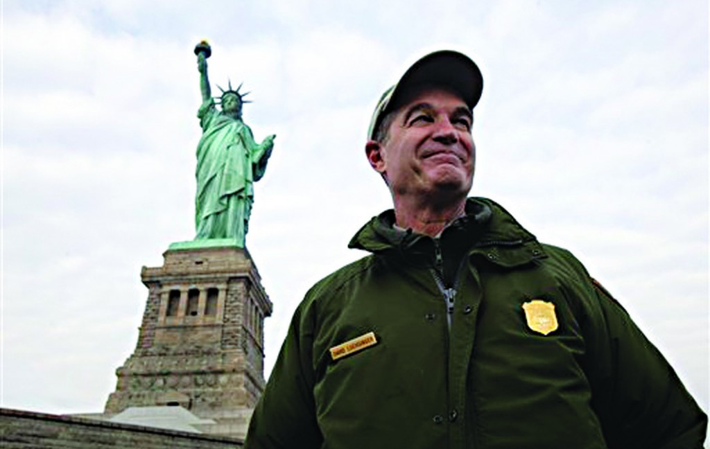 David Luchsinger, superintendent of Statue of Liberty National Monument and last resident of Liberty Island, in this Nov. 30, 2012 photo. (AP Photo/Richard Drew)