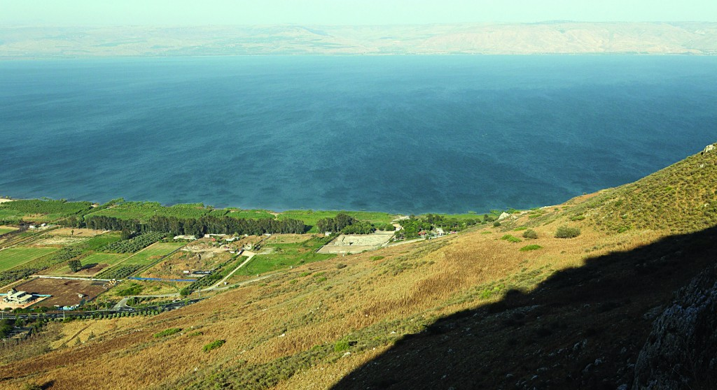 View from Mount Arbel in the Lower Galil near Teveria. (Yaakov Naumi/Flash90)