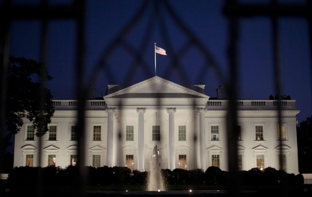 The White House in Washington is seen at night, Monday. (AP Photo/Pablo Martinez Monsivais)