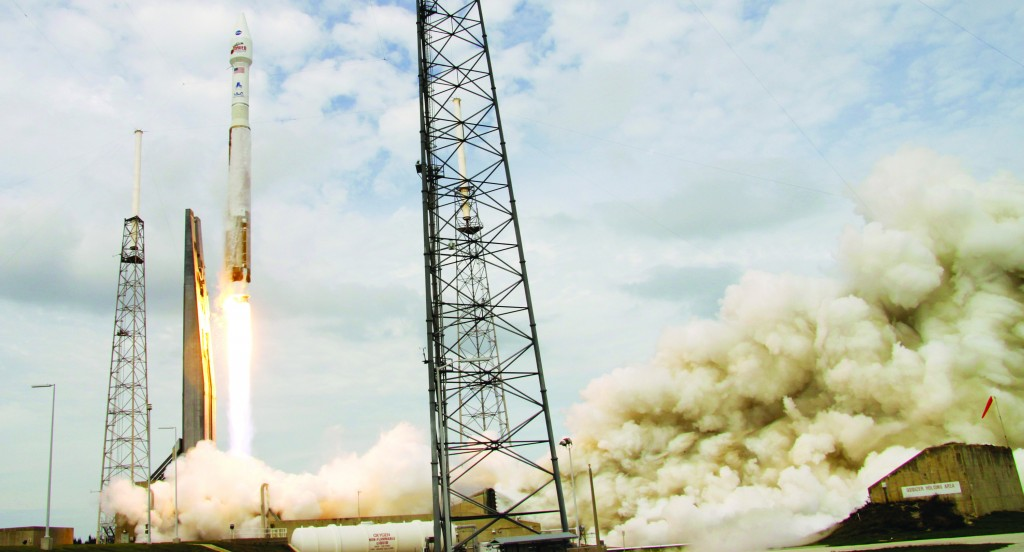 NASA's Maven, atop a United Launch Alliance Atlas 5 rocket, lifts off from Cape Canaveral Air Force Station, Monday. (AP Photo/John Raoux)