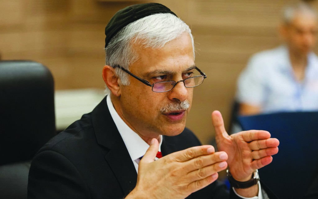 State Control Committee Chairman Amnon Cohen (Shas). (Flash 90)