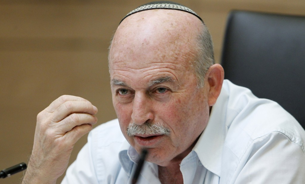 Chairman of the Finance Committe MK Nissan Slomiansky. (Miriam Alster/Flash 90)