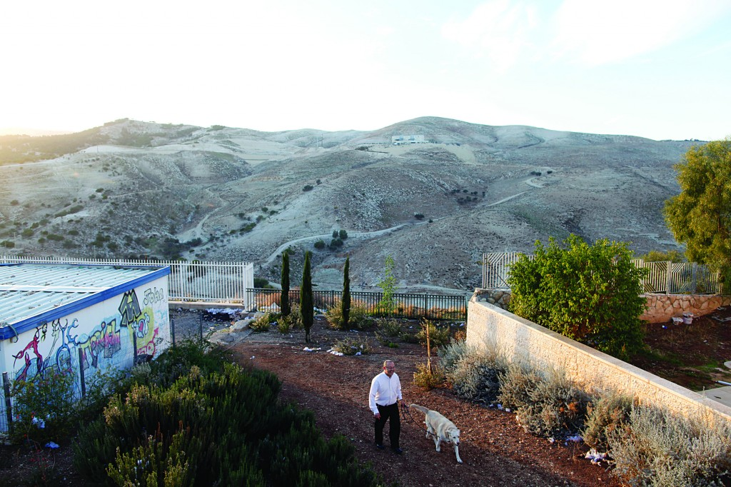 A partial view of Maalei Adumim with the E1 area in the background. (Lior Mizrahi/FLASH90)