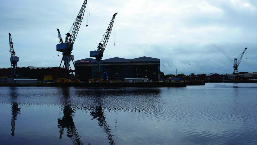 A general view of the BAE Systems yard at Govan on the river Clyde in Glasgow, Scotland.(REUTERS/Russell Cheyne)