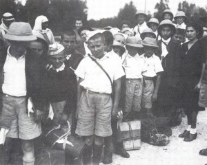 A group of the Tehran children smuggled out of Iran via India to Palestine in 1943.