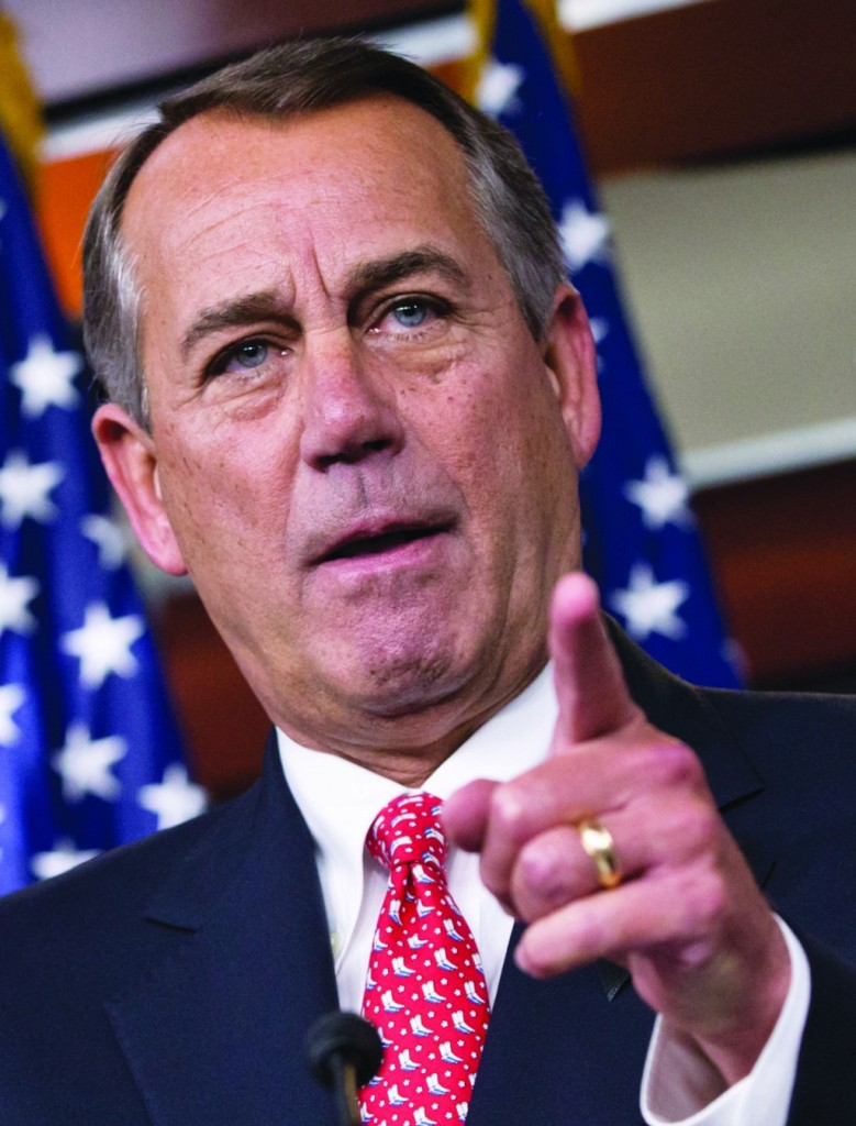 House Speaker John Boehner of Ohio vehemently rebukes conservative groups who oppose the pending bipartisan budget compromise. (AP Photo/J. Scott Applewhite)