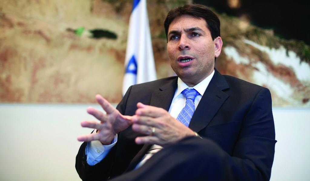 Deputy Defense Minister Danny Danon during an interview in his office in Tel Aviv. (AP Photo/Dan Balilty)