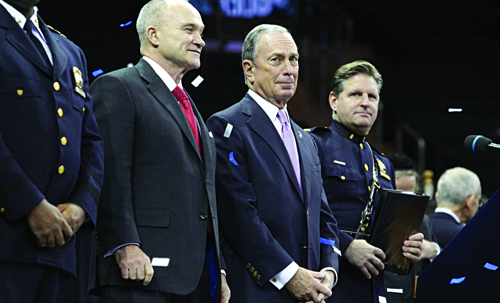 Police Commissioner Ray Kelly and Mayor Michael Bloomberg on Friday preside over their last police academy graduation, in Madison Square Garden. (NYC Mayor's Office)