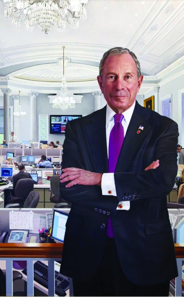 The official portrait of Mayor Michael Bloomberg, unveiled Monday at City Hall.