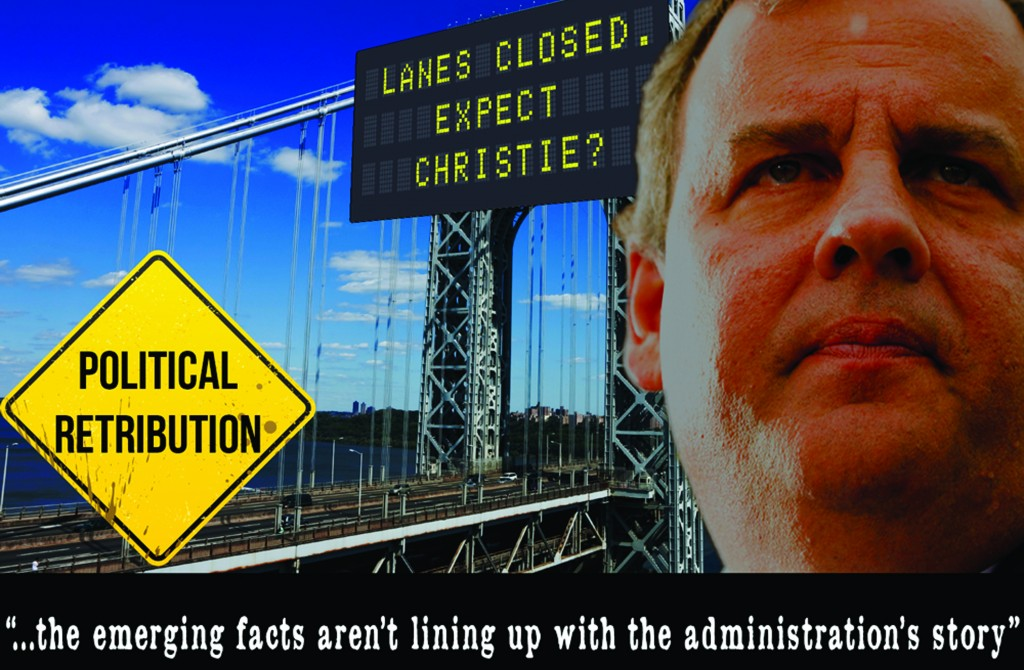 """A """"Correct the Record"""" ad by the Democratic-aligned super-PAC attacking Gov. Chris Christie over the closures at the George Washington Bridge in September."""