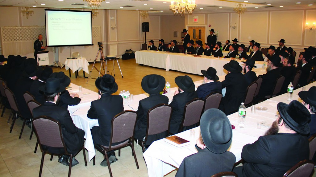 Dr. Glen Hirsch, Medical Director for the New York University Child Study Center, during a Relief Resources presentation for the Rabbanim and Dayanim of Lakewood.